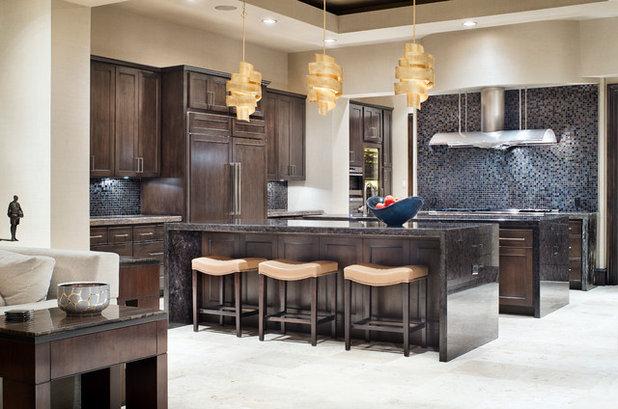 Transitional Kitchen by JAUREGUI Architecture Interiors Construction