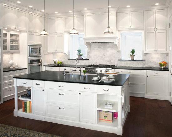 Marble Kitchen Backsplash black marble backsplash | houzz