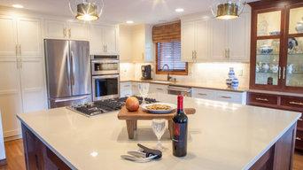 Classic white & Rich Gold Kitchen