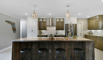 Classic white kitchen with Rustic accents