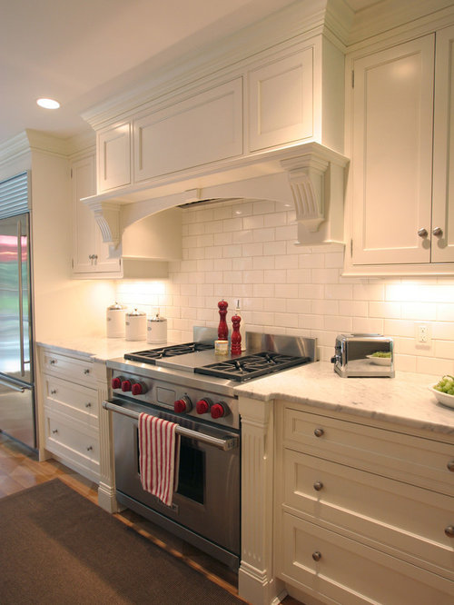 Decorative range hood houzz for Shaker style kitchen hoods