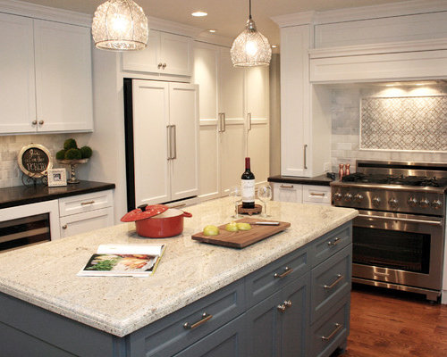 eat in kitchen mid sized traditional u shaped medium tone wood floor - Newly Remodeled Kitchens