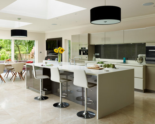 Inspiration For A Large Contemporary U Shaped Open Plan Kitchen In Essex  With A Submerged
