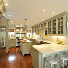 Transitional Kitchen by Michael Lauren Development LLC