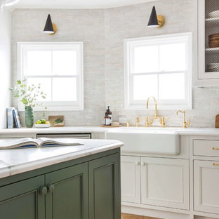 clé's zellige in weathered white used in emily henderson's own kitchen remodel
