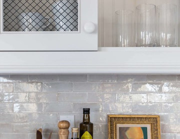 clé zellige in weathered white used in emily henderson's own kitchen remodel