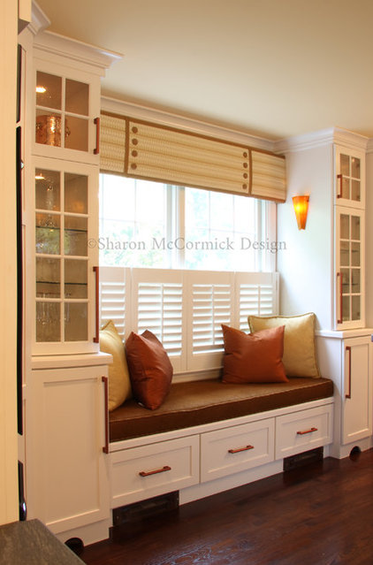 Transitional Kitchen by Sharon McCormick Design