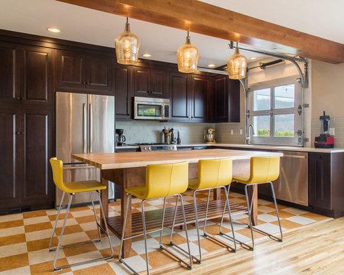 Contemporary kitchen design ideas renovations photos for Garage door style kitchen window