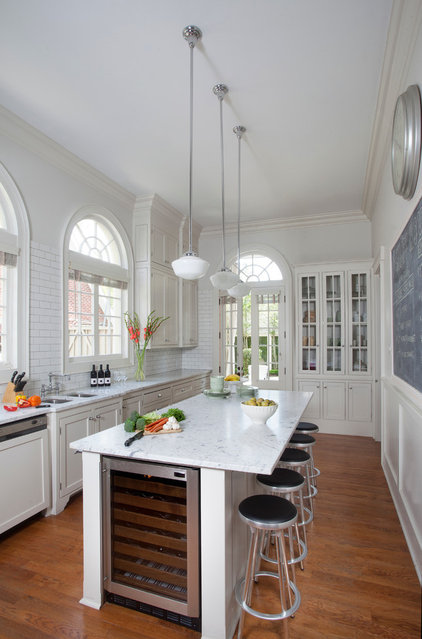 Traditional Kitchen by TY LARKINS INTERIORS