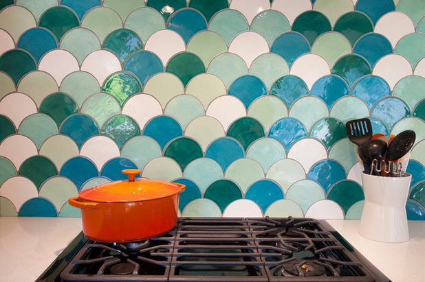Contemporaneo Cucina by Mercury Mosaics and Tile