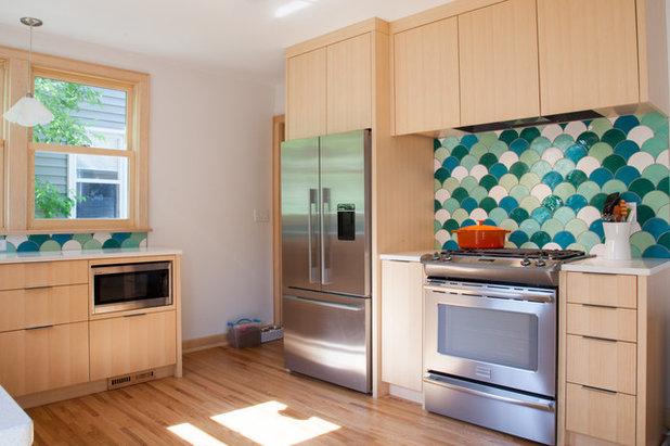 Contemporáneo Cocina by Mercury Mosaics and Tile