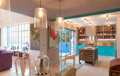 Houzz Tour: Candy Hues Meet Industrial Chic in a London Loft