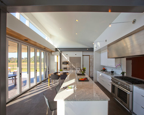 Inspiration For A Modern Galley Open Concept Kitchen Remodel In Cincinnati  With An Undermount Sink,
