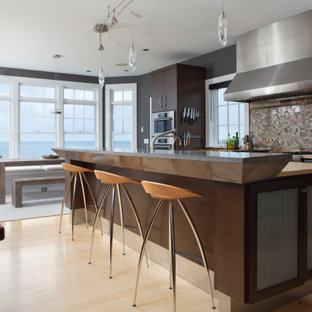 75 Beautiful Kitchen With Dark Wood Cabinets Pictures Ideas Houzz