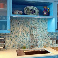 Eclectic Kitchen by New Ravenna Mosaics