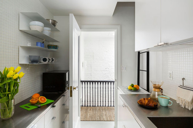 Transitional Kitchen by Urban Pioneering Architecture