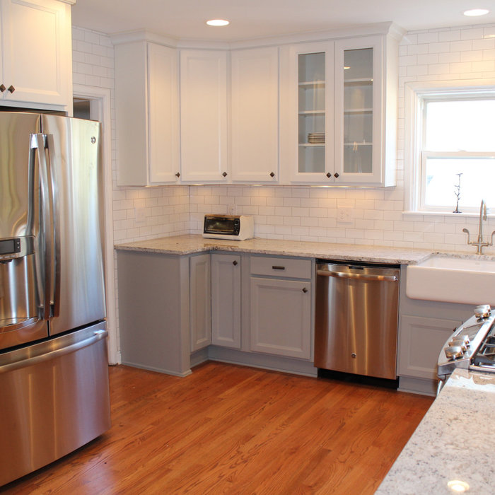 Clintonville Kitchen with Grey & White Painted Cabinets
