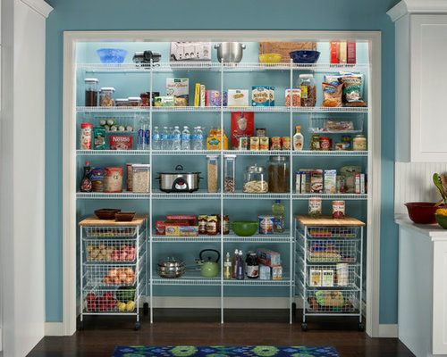 Wire Shelving For Pantry Houzz