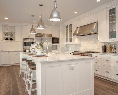 landhausstil k chen mit marmor arbeitsplatte ideen bilder houzz. Black Bedroom Furniture Sets. Home Design Ideas