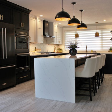 Coal Valley, IL- What's Black & White and Gold All Over? This On-Trend Kitchen