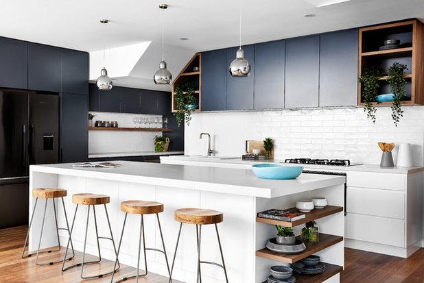 Beach Style Kitchen by Santamaria Design