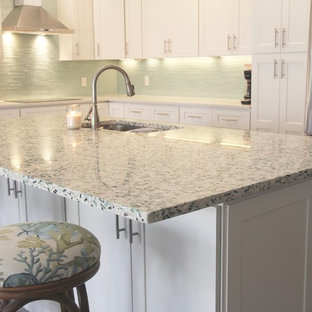 75 Beautiful Beach Style Kitchen with Terrazzo Countertops