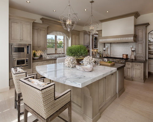 Coastal kitchen houzz for Beach kitchen ideas