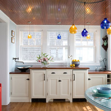 Eclectic Kitchen by Point One Architects