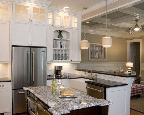 Cabinets White Cabinets Granite Countertops White Backsplash And