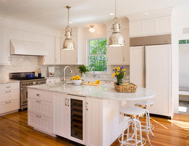 Beach Style Kitchen by Ronald F. DiMauro Architects, Inc.