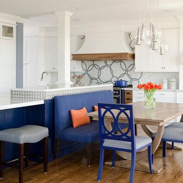 Cobalt Blue and White Kitchen Reno