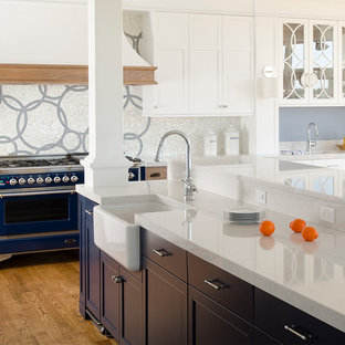 Contemporary kitchen remodeling - Trendy kitchen photo in Portland Maine
