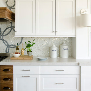 Contemporary kitchen ideas - Example of a trendy kitchen design in Portland Maine