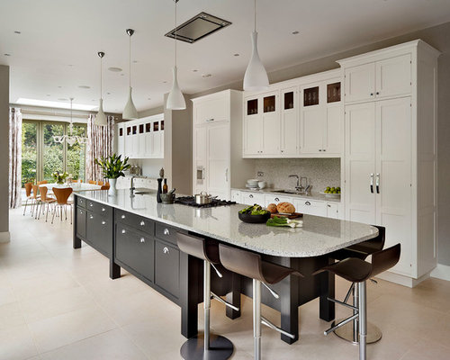 long kitchen island houzz
