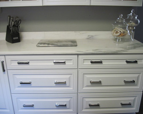 Best Small Enclosed Kitchen with Raised-Panel Cabinets ...