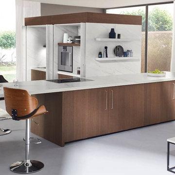 Coffe brown veneer - kitchen for real men...........
