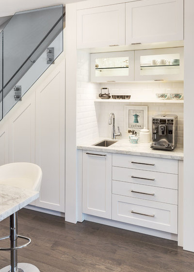 Transitional Kitchen by Lisa Robazza Design