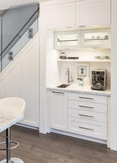 Transitional Kitchen by Lisa Robazza Design