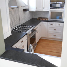 Transitional Kitchen by Capital Granite