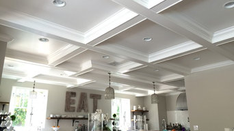 Coffered ceiling and doorways.