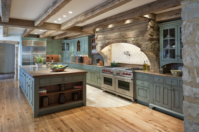 Rustic Kitchen by Period Architecture Ltd.