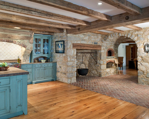 Rustic Blue Home Design Ideas, Pictures, Remodel and Decor