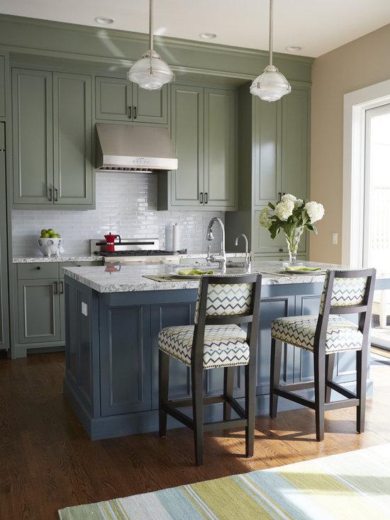 Dark Green Kitchen Cabinets dark green cabinets | houzz