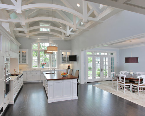 Vaulted Beamed Ceiling Home Design Ideas Pictures