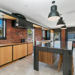 Contemporary kitchen in Hobart.