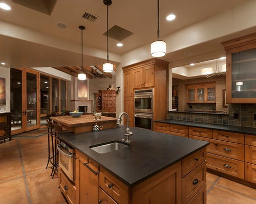 Kitchen Design Ideas Renovations Amp Photos With Terra Cotta Floors