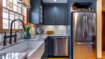Colonial Blue Kitchen