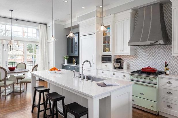 Transitional Kitchen by Jenni Leasia Interior Design