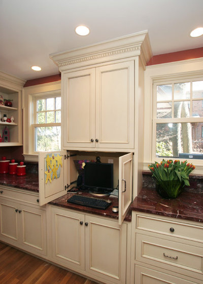 traditional kitchen by rob kane kitchen interiors inc charging station kitchen central office