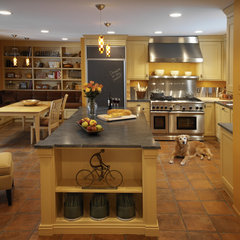 mediterranean kitchen by Caden Design Group